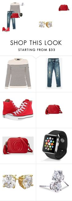 """Netflix and Chill"" by fiftyshadesof1slay on Polyvore featuring Saint James, Converse, Gucci, Apple, Lord & Taylor and netflixandchill"