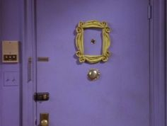 "You have an urge to hang an empty picture frame around the peephole of your apartment door. | 15 Signs You're A Crazy ""Friends"" Fanatic"