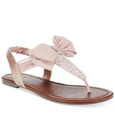 Material Girl Swan Flat Thong Sandals, Created for Macy s Shoes - Sandals    Flip Flops - Macy s fe471d17a4