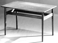 Teak coffee table. Nanna Ditzes for Knud Willadsen, 1952