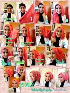 Hijab Tutorial Pashmina Pesta