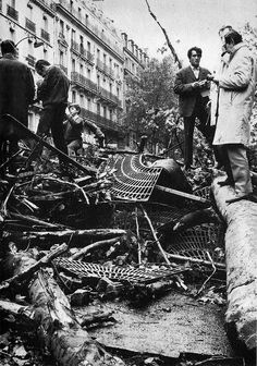 Boulevard St-Michel,May 1968, riot aftermath