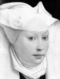 Portrait of a Woman (detail), Rogier van der Weyden, 1430