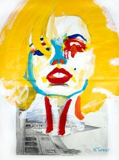 "Neal Turner; Acrylic, 2011, Painting ""Portrait de Marilyn Monroe """