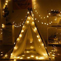 NOUVEAU 20/30/50 LED Star fée lampe solaire puissance LED chaîne guirlandes solaires jardin Girls Tent, Kids Teepee Tent, Led Fairy Lights, Solar Lights, Twinkle Star, Twinkle Twinkle, Star String Lights, Light String, Christmas Lamp