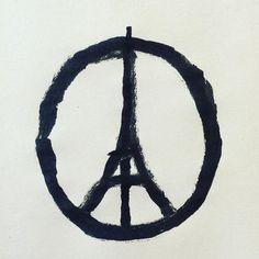 "Sad! Instagram on Instagram: ""Peace for Paris"" Illustration by @jean_jullien #jesuisparis"