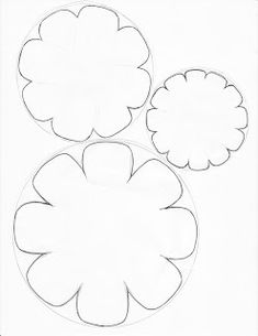 Cardstock Flower Template 5000 Crafts Giant Paper Flowers