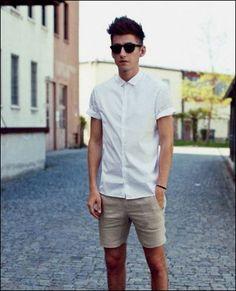 男生時尚白色短褲 - Google 搜尋