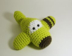 Amigurumi Airplane Crochet Toy