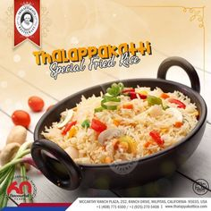 Special Mixed Fried Rice from the Chinese menu. Blended with exotic vegetables & order a side dish just perfect for this rice and your taste.  #DindigulThalappakatti #Thalappakatti #ThalappakattiRestaurant #Biriyani #Biryani #Worldfamousauthenticbiriyani #Foodie #Foodism #Biriyanibucket #Biryanibucket #PartyBucket #TheBestBiriyani #SeeragaSambaBiriyani #OrderPartybiriyanionline #Yelp #California #USA