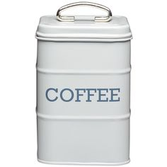 Living Nostalgia Living Nostalgia Coffee Canister, 11X17Cm ($11) ❤ liked on Polyvore featuring home, kitchen & dining, food storage containers, tea cannister, tea coffee canisters, sugar canister, square food storage containers and coffee cannister