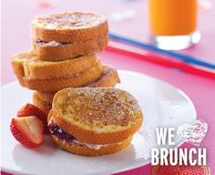 Tre Stelle Ricotta and Strawberry Stuffed French Toast Brunch Recipes, Ricotta, French Toast, Muffin, Strawberry, Warm, Breakfast, Food, Morning Coffee