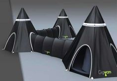 56 Cool Camping Shelters - Innovative Tents  Caravans, from RV Bikes to Steel Sanctuaries - Camping equipment companies have begun to design products that will make even the nature hater want to spend a night under the stars. With ideas such as solar-powered tents and luxurious motorhomes, a wide range of innovative tents and caravans is available that would accommodate any camper.