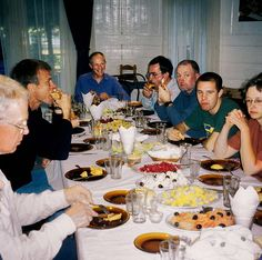 Cycle Tour of Chile & Argentina - At Melipeuco, pensive faces at dinner table after an arduous day's cycling.