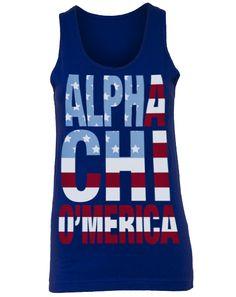 Alpha Chi Omega O'merica Tank - Adam Block Design