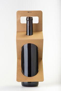 Zigpack: el embalaje que no oculta la botella. Diseño de Facil.cat