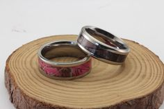 Checkout these Camo Rings Camo Rings, Camo Wedding Rings, Wedding Band, Camo Baby Stuff, Oh Deer, Pink Camo, Chainmaille, My Favorite Color, Jewerly