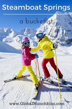 Things to do in Steamboat Springs CO both on and off the slopes.  A bucketlist of activities for Steamboat Springs CO. www.GlobalMunchkins.com
