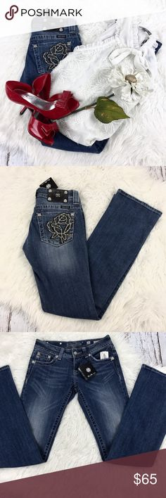 """💕SALE💕Miss Me Embellished Premium Denim Amazing NWT Miss Me Diamond Embellished Premium Denim 33"""" Inseam 7 1/2"""" Rise Perfect Christmas Gift Miss Me Jeans Boot Cut"""