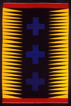 "Mary Zicafoose, ""Crossfire,"" 62"" x 41"", 2003; slit woven tapestry, hand dyed wool on linen warp"