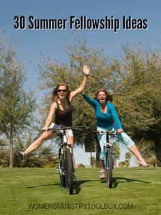 Looking for ideas for your women's ministry summer fellowships? Check out these 30 summer fellowship ideas! #summerfellowship #womensministry