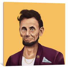 iCanvas 'Abraham Lincoln' by Amit Shimoni Canvas Print