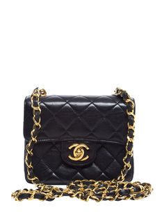 Black Lambskin Classic Flap Extra Mini by Chanel at Gilt