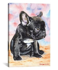 This George Dyachenko French Bulldog Puppy II Wrapped Canvas is perfect! #zulilyfinds