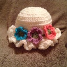 Cold Weather Sun Hat from MES Crochet Creations - Peek A Bows for $7.50