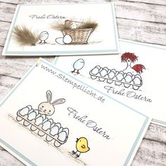 Osterkarten mit Stampin Up Osterkörbchen, Perfekt Mix und SAB Set Das Gelbe vom Ei