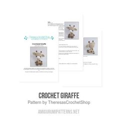 Adorable Giraffe amigurumi pattern by Theresas Crochet Shop