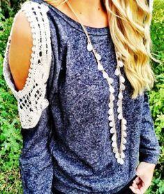 Open shoulder fall sweater shirt fashion
