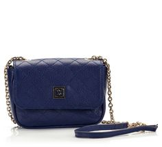 Coccinelle MINIBAG Blue quilted leather chain mini shoulder bag