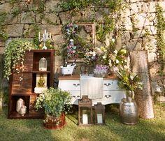 decoracao para casamento boho