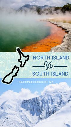 Is the North Island or the South Island better in New Zealand? Learn about the North Island vs. the South Island in this guide. South New Zealand, Nz South Island, Fiji Travel, New Zealand Travel Guide, Australia Travel Guide, Life Is An Adventure, Travel Guides, Travel Tips, Cool Places To Visit