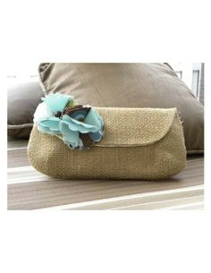 The Audrey Clutch in an Earthy Tone and Lovely Flower by ChiKaPea, $40.00
