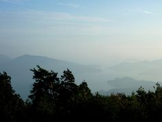 View of the Seto Inland Sea from Mt. Noro in Kure, Hiroshima prefecture, Japan