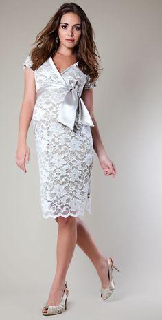 Grace Lace Maternity Dress (Ivory) by Tiffany Rose