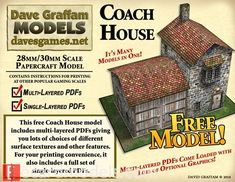 30mm Coach House Paper Model