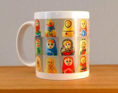 Russian Dolls | Babushka Mug | Mug For Her | Collections of Collections |  Retro Toys | Vintage Wooden | Gift Idea | Nesting Dolls Mugs
