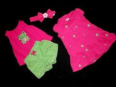 GYMBOREE BABY GIRL OUTFIT Spring Summer Infant Newborn Clothes Dress 6 9 12 mo