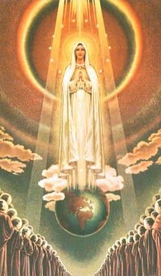 The Assumption of the Virgin Mary - I wish I knew the artist, this is pretty amazing.