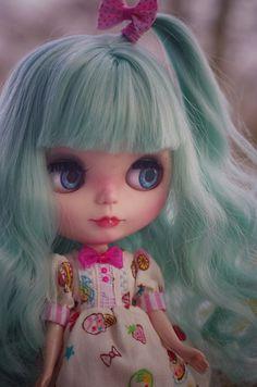 SALE ooak Custom Blythe doll by splattergirluk on Etsy
