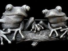 Vintage JJ Frog Brooch Jonette Jewelry Pewter Toad Signed Estate Pin | eBay