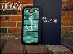 Anchor Galaxy S3 Case Samsung Galaxy Case Nautical Rubber...check other designs for later