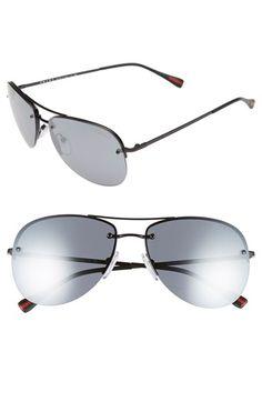 13998e4f11 Prada 59mm Metal Aviator Sunglasses Sunglasses Women Designer