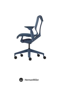 Create a comfortable, beautiful office with Cosm—now available with height-adjustable arms in the chair's signature Dipped-in-Color aesthetic. Ideal for spaces across the floorplan—from collaborative settings to individual workstations—this office chair comes in six colors. Choose from three saturated Dipped-in-Color options or three neutrals to brighten office workspaces. Home Office Chairs, Office Workspace, Sayl Chair, Comfortable Office Chair, Ergonomic Chair, Modern Desk, Chair Pads, Workspaces, Herman Miller
