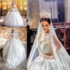 Sequined Bridal Wear For Princesses