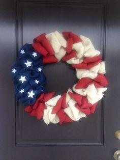 Handmade by me ❤️ american flag burlap facebook - getting crafty by tiffany