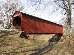 Allaman Covered Bridge - Henderson County, Illinois - I grew up here!